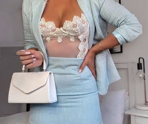 blue, business casual, and casual image