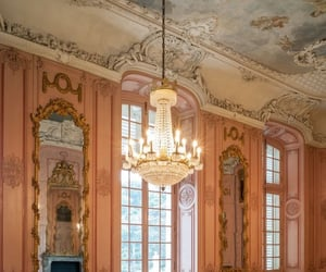 architecture, chandelier, and fairytale image