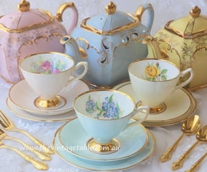blue, fairytale, and gold image