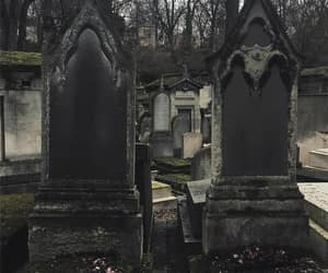 dark, graves, and gothic image