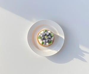 blueberries, cream, and desserts image