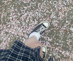 aesthetic, skirt, and cherry blossoms image