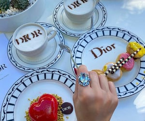 coffee, dessert, and dior image