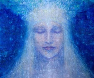 contemplation, goddess, and visionary art image