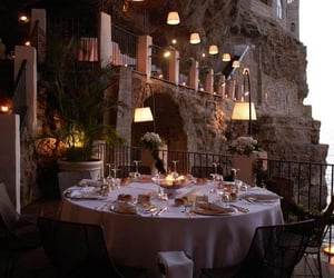 dinner, puglia, and italy image