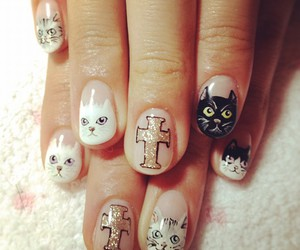 cat, nails, and cross image