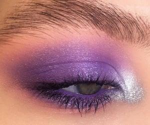 eyeshadow, makeup, and purple image