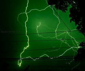 green, aesthetic, and lightning image