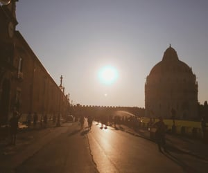 italy, Pisa, and sunset image