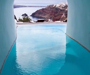 Greece, luxury, and pool image