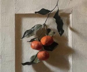 art, orange, and painting image