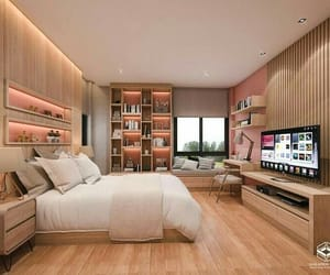 bedroom, home, and idea image