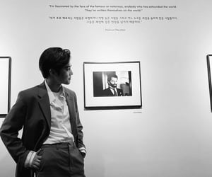 art, suho, and black and white image