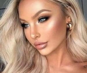 blonde, eyeshadow, and hair image