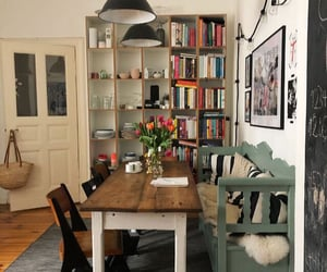 books, cozy, and decor image