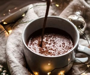 drink, lights, and hot chocolate image
