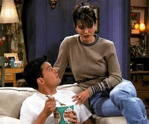 chandler bing, Courteney Cox, and cute image