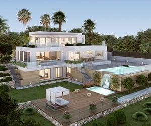 beautiful, mansion, and villa image