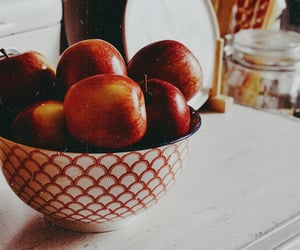 apple, apples, and bowl image