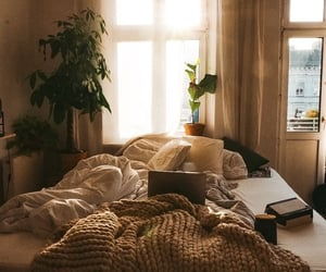 bedroom, comfortable, and cozy image