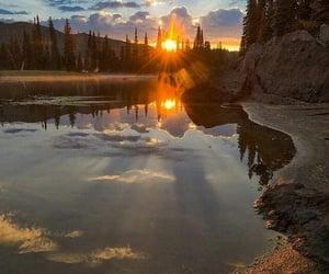 beautiful, sun, and lake image
