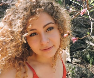 blossom, curly hair, and fresh image