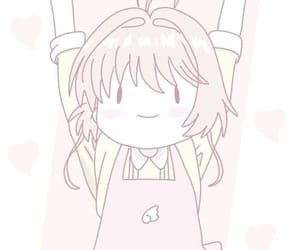 anime, pink, and sakura kinomoto image