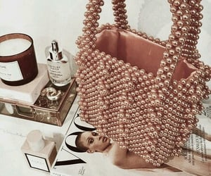 bag, gold, and rose image