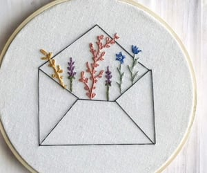 art, embroidery, and vintage image
