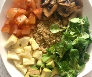 avocado, bowl, and delicious image
