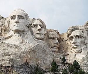 abraham lincoln, south dakota, and George Washington image