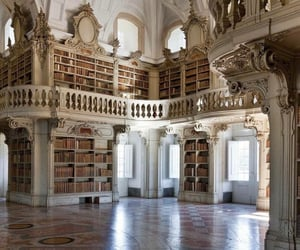 library, books, and architecture image