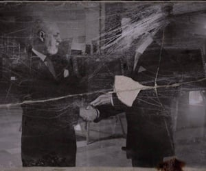 black and white, faded, and handshake image