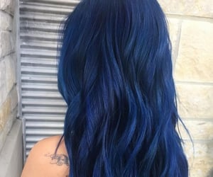 blue, blue hair, and long hair image