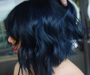 blue, blue hair, and short hair image