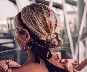 blonde hair, fashion, and hairstyle image