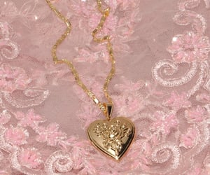 gold, jewelry, and locket image