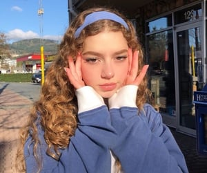 blue, curly hair, and girl image
