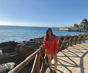 beach, sun, and orange image