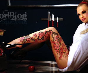 girly and tattoo image