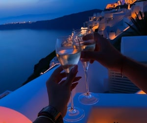drink, luxury, and Greece image