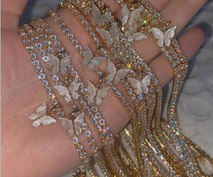 accessories, bling bling, and butterfly image