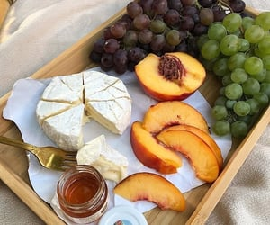 food, fruit, and cheese image