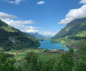 green, summer, and switzerland image
