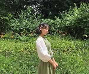 girl, green, and korean image