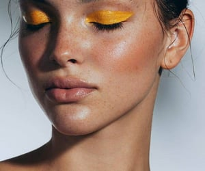 gold, eye makeup, and model image
