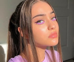 aesthetic, makeup, and purple image