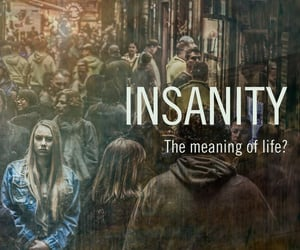 crowded, insanity, and words image