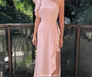 evening dress, party dress, and one shoulder dress image