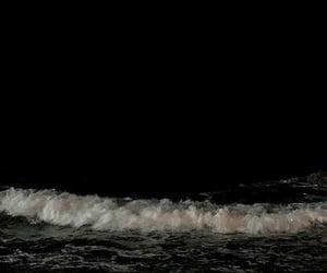 dark, sea, and black image